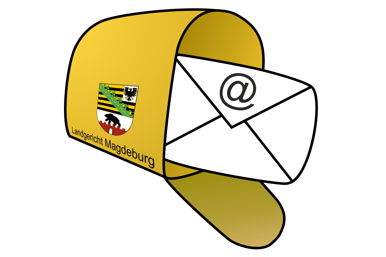 Ein Briefkasten mit einem Brief