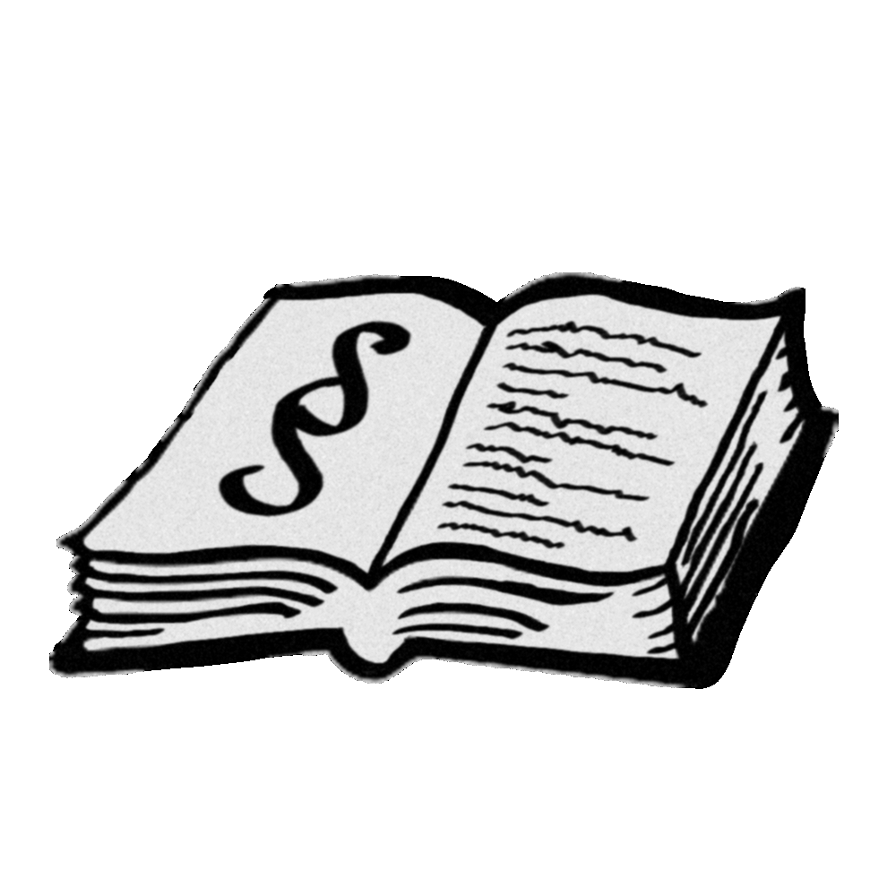 ein aufgeschlagenes Gesetzbuch