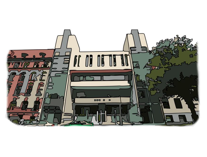grafische Ansicht des Landgerichts Magdeburg